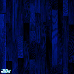 Ultradark Blue Stained Wood Flooring