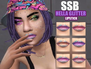 Sims 4 — HELLA Glitter Lipstick by SavageSimBaby — Sure they don't have the sparkle we all wish Sims 4 would allow us,