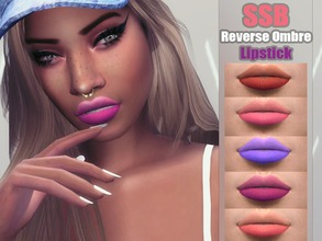 Sims 4 — Soft Reverse Ombre Lips by SavageSimBaby — If you miss having soft lips instead of some chapped matte lipstick,