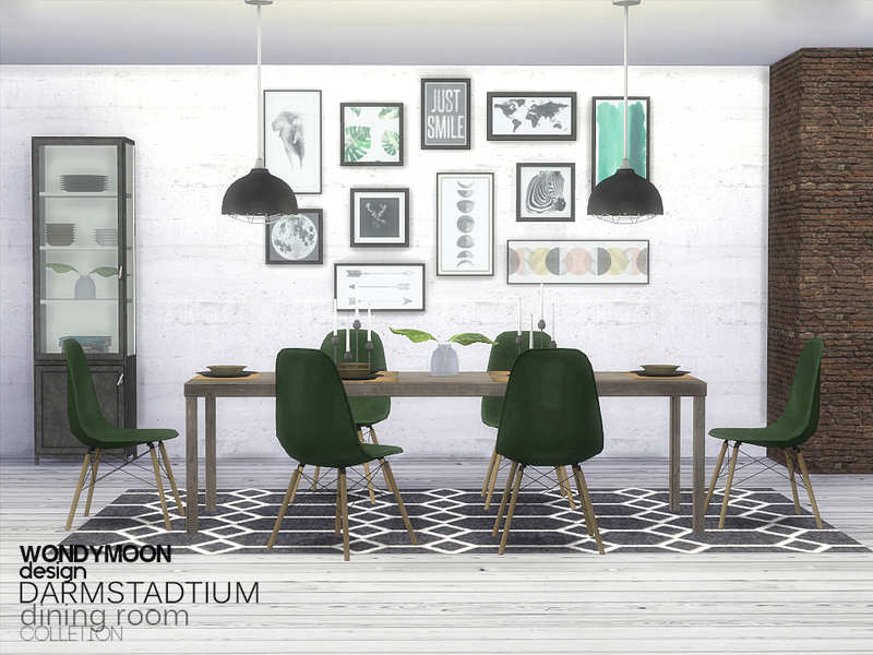 Wondymoon 39 s darmstadtium dining room for Dining room ideas sims 4