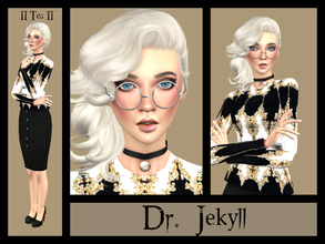 Sims 4 — Dr. Jekyll by _Tea_ — Hello everyone! I've decided to try something new and make another sim... Dr. Jekyll! -Her