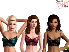 Sims 3 — Lace Bralet (YA-AF) by onthebrightside-x2 — This bralet is worn alone -in the tops category -sleepwear If you