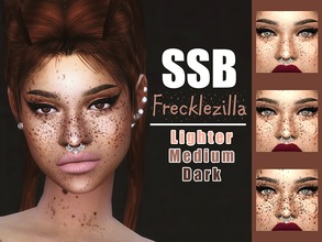 Sims 4 — SSB Frecklezilla Face & Body Freckles by SavageSimBaby — Get a load of these useful and unique freckles.