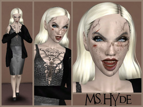 Sims 4 — Ms. Hyde by _Tea_ — Hello everyone! :D Here's another sim, Ms. Hyde! -Her traits: Insane, Evil, Slob -
