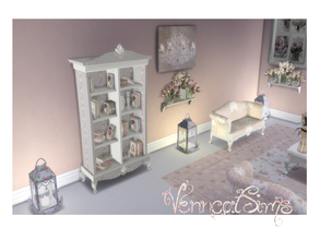Shabby Chic Rustic Bookcase