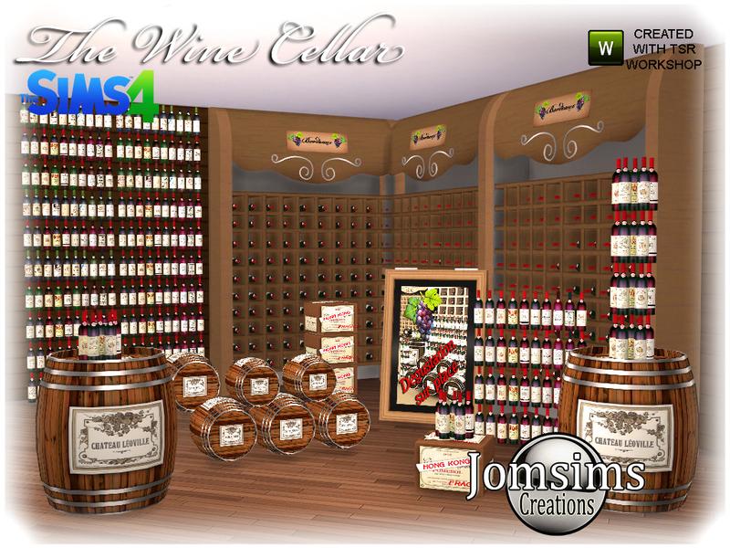 jomsims' The wine cellar sims 4
