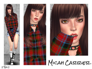 Sims 4 — Micah Carrier by _Tea_ — Micah Carrier: - Traits: Non commital, loner, music lover - Aspires to become a Muser.