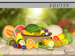Sims 3 — Fruits by NynaeveDesign — These fruits don't require any care, they just do their job of decorating. Set