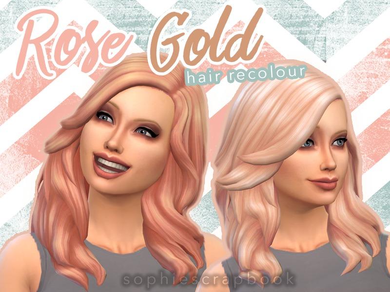 Sophiescrapbook S Rose Gold Hair Romantic Garden