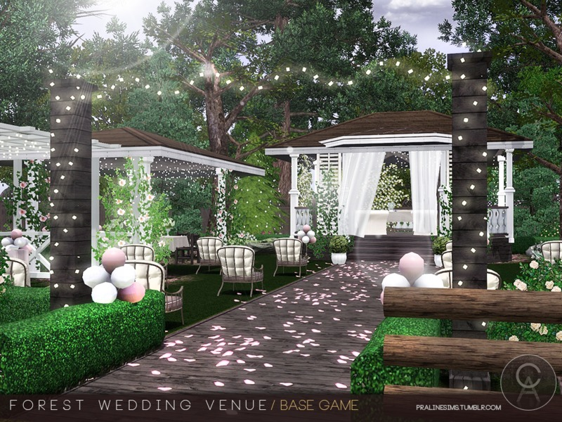 Pralinesims' Forest Wedding Venue