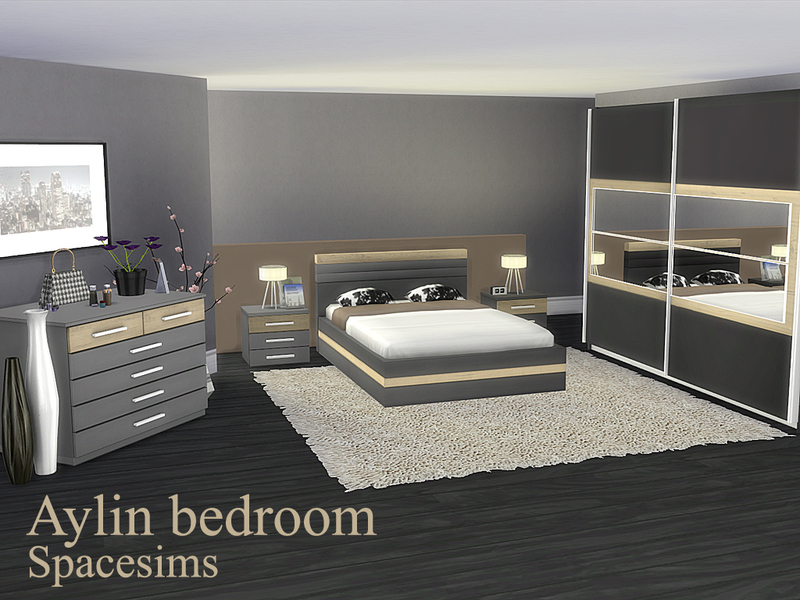 Spacesims 39 aylin bedroom for Sims 4 bedroom ideas