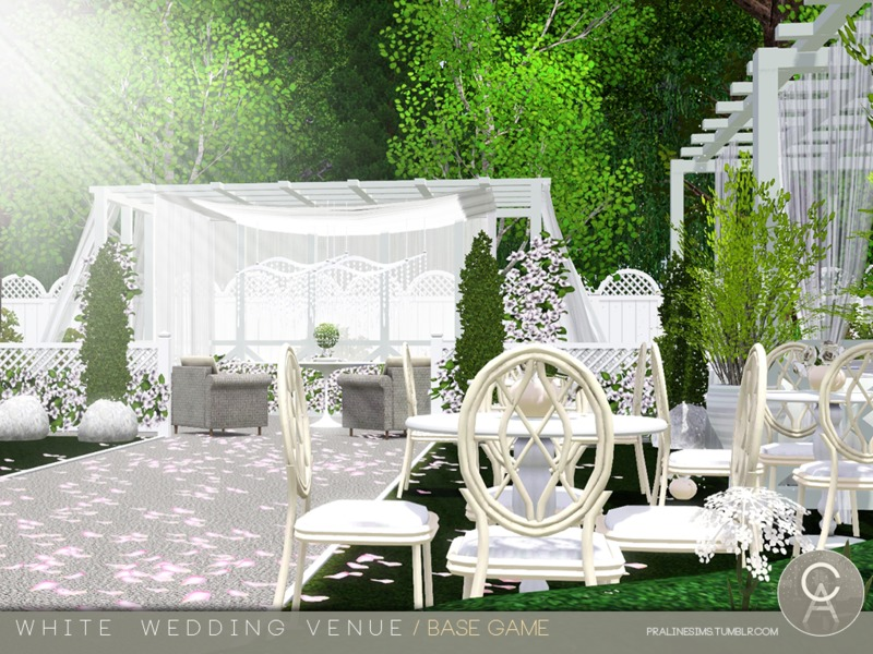 Pralinesims White Wedding Venue