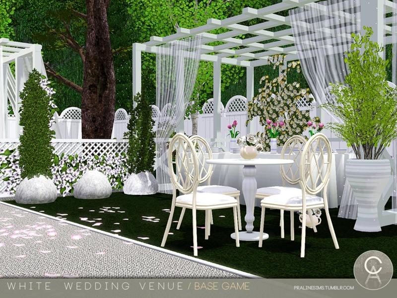 Pralinesims' White Wedding Venue