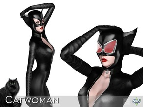 Sims 3 — Catwoman head by Shushilda2 — Clothes and accessories set for an alternative version of Catwoman - New mesh - 1