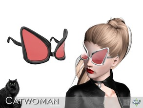Sims 3 — Catwoman glasses by Shushilda2 — Clothes and accessories set for an alternative version of Catwoman - New mesh -