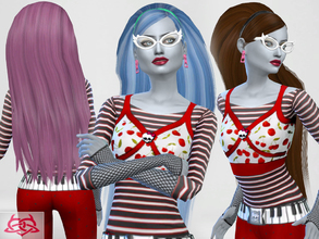 Sims 4 — Ghoulia yelps hairstyle by Colores_Urbanos — Monster High - Ghoulia yelps hairstyle new meshes made by me -Need