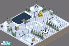 Sims 1 — Lot 40 -- Winter Wonderland by frisbud — If it\'s a winter activity you seek, you can find it here at the Winter