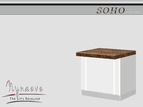 Sims 3 — Soho Counter Island by NynaeveDesign — Soho Kitchen - Counter Island Located in: Surfaces - Counters Price: 250