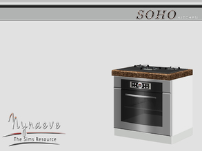Sims 3 — Soho Stove by NynaeveDesign — Soho Kitchen - Stove Located in: Appliances - Large Appliances Price: 1500 Tiles:
