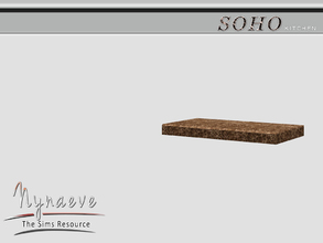 Sims 3 — Soho Kitchen Shelf by NynaeveDesign — Soho Kitchen - Kitchen Shelf Located in: Surfaces - Cabinets Price: 250