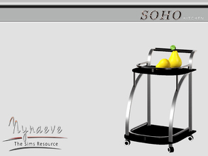 Sims 3 — Soho Kitchen Cart by NynaeveDesign — Soho Kitchen - Kitchen Cart Located in: Decor - Miscellaneous Price: 54