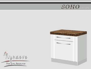 Sims 3 — Soho Kitchen Counter by NynaeveDesign — Soho Kitchen - Kitchen Counter Located in: Surfaces - Counters Price: