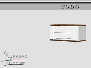 Sims 3 — Soho Kitchen Cabinet by NynaeveDesign — Soho Kitchen - Kitchen Cabinet Located in: Surfaces - Cabinets Price: