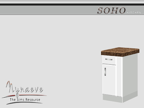 Sims 3 — Soho Counter End (right) by NynaeveDesign — Soho Kitchen - Counter End (right) Located in: Surfaces - Counters