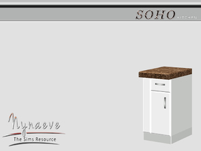 Sims 3 — Soho Counter End (left) by NynaeveDesign — Soho Kitchen - Kitchen Counter (left) Located in: Surfaces - Counters