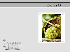 Sims 3 — Soho Fruits Print by NynaeveDesign — Soho Kitchen - Fruit Print Located in: Decor - Paintings and Posters Price: