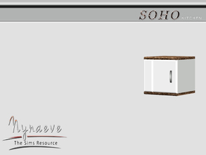 Sims 3 — Soho Cabinet End (left) by NynaeveDesign — Soho Kitchen - Kitchen Cabinet End (left) Located in: Surfaces -