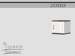 Sims 3 — Soho Cabinet End (right) by NynaeveDesign — Soho Cabinet End (right) Soho Kitchen - Kitchen Cabinet End (right)