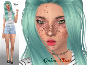 Sims 4 — Dulce Elias by _Tea_ — Hello everyone! Here's Dulce Elias :) Aspiration: Soulmate Traits: Self-Assured,