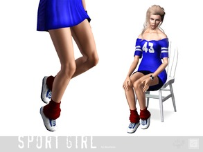 Sims 3 — Shoes sport little one by Shushilda2 — Set of sportswear for young active girls - New meshes - Recolorable
