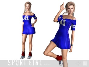 Sims 3 — Dress sport little one by Shushilda2 — Set of sportswear for young active girls - New meshes - Recolorable