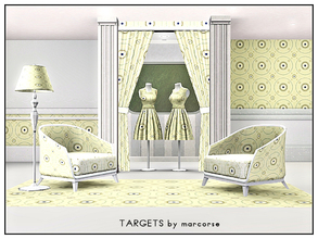 Sims 3 — Targets_marcorse by marcorse — Geometric pattern: concentric circle design in yellow, blue and brown