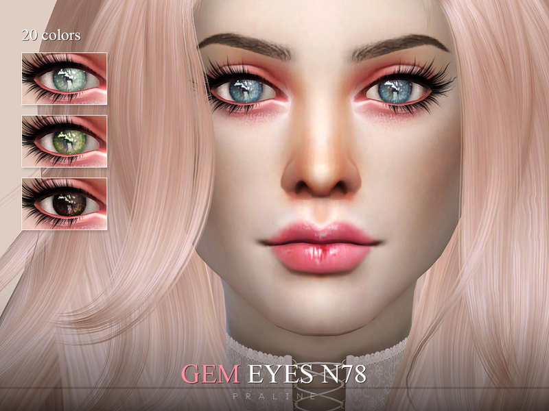 Pralinesims' Gem Eyes N78