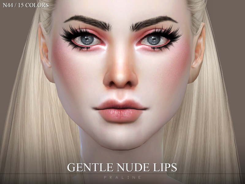 Gentle Lips INTENSE N52 by Pralinesims at TSR » Sims 4 Updates