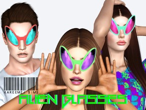Sims 3 — Alien Glasses by KareemZiSims2 — These Alien Glasses give a fun and Sci-Fi touch for your sims wardrobe!
