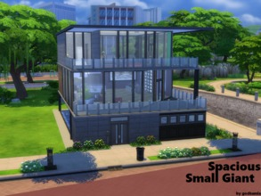 Sims 4 — Spacious Small Giant NO CC BASEGAME by godkamia — A 3 story small but gigantic house. Equipped with, on the 1st