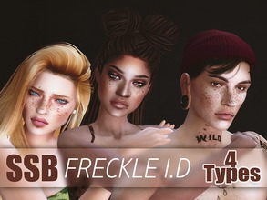 Sims 4 — SSB Freckle ID by SavageSimBaby — Time to set yourself apart from the rest and for you, 4 different styles of