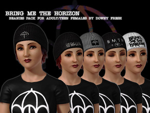 Sims 3 — Bring Me The Horizon Neutrals Beanie Pack for Girls by Downy Fresh — More BMTH swag! For Teens and Adult guys,