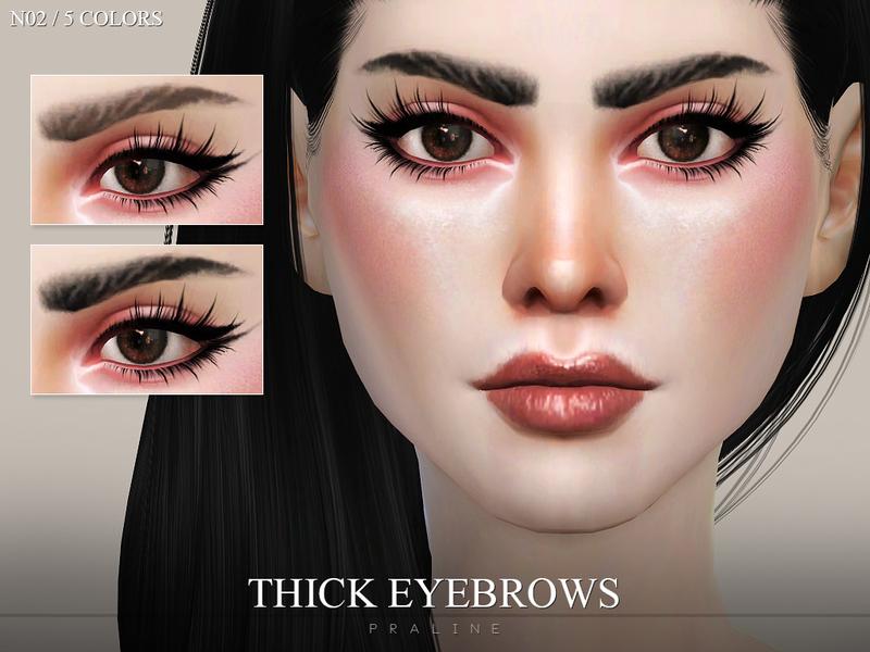 Pralinesims Thick Eyebrows N02
