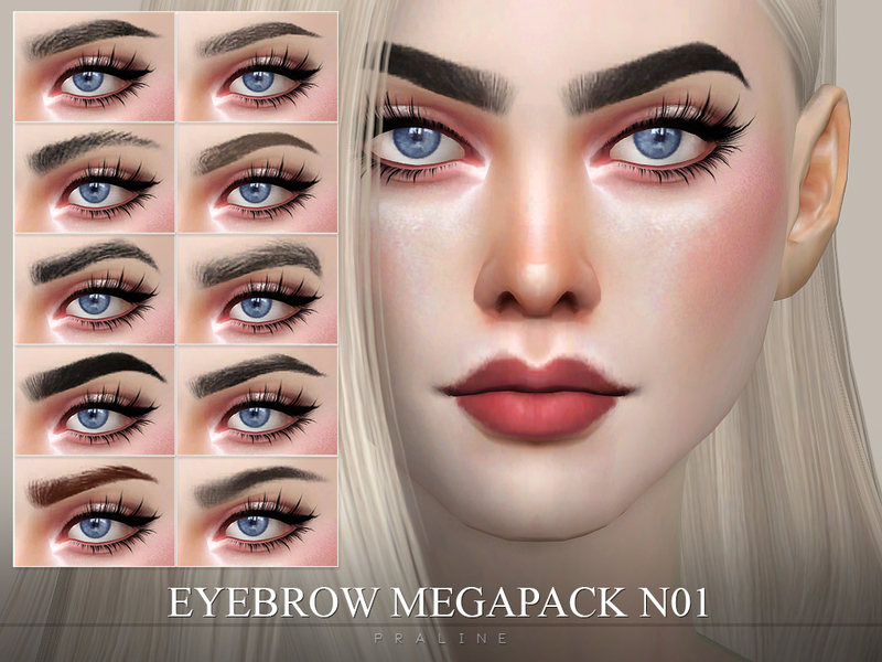 Thank You For Your Order >> Pralinesims' Eyebrow Pack N01
