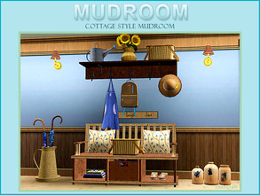 Sims 3 — Cottage Style Mudroom by Cashcraft — It's a Cottage Style Mudroom, which includes 8 new objects, a rustic