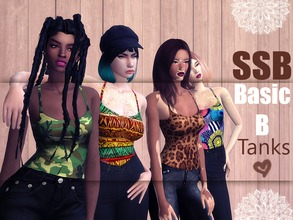 Sims 4 — SSB Basic B Tank Top by SavageSimBaby — These are the essentials of a closet, basic prints, for awesome outfits.