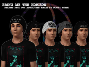 Sims 3 — Bring Me The Horizon Neutrals Beanie Pack for Guys by Downy Fresh — More BMTH swag! For Teens and Adult guys,