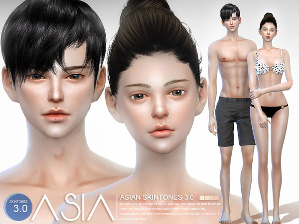 S-Club WMLL ts4 ASIAN skintones3.0 ALL AGEKorean Toddler Hair Sims 4