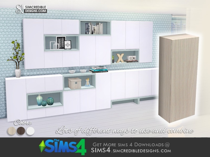 sims 4 kitchen cabinets download simcredible s come cozy cabinet half width 26147