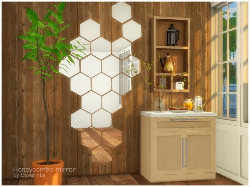 Wall Mirror Honeycombs